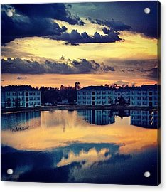 Forever Taking #sunset Pics Off This Acrylic Print