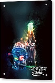 Forever Young Coca-cola Acrylic Print