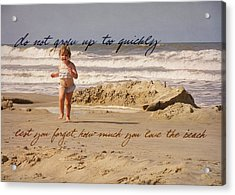 Forever Young Quote Acrylic Print by JAMART Photography