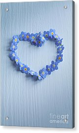 Forget Me Not Heart Acrylic Print