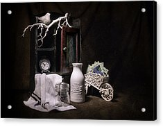 Forget Me Not Still Life Acrylic Print