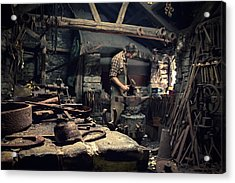 Forging Metal Acrylic Print