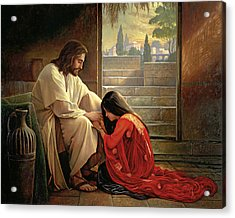 Acrylic Print featuring the painting Forgiven by Greg Olsen