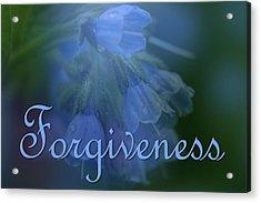 Forgiveness Blue Bells Acrylic Print