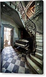 Forgotten Ancient Piano - Urban Exploration Acrylic Print by Dirk Ercken