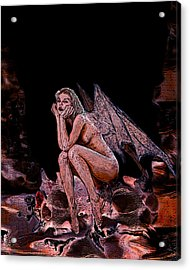 Forgotten Angel Acrylic Print by Tbone Oliver