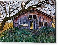 Forgotten Barn Acrylic Print by Garry Gay