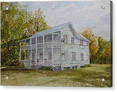 Acrylic Print featuring the painting Forgotten By Time by Joel Deutsch