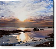 Acrylic Print featuring the painting Forgotten Coast by Rick McKinney