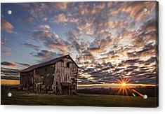 Forgotten Dreams On Pickup Hill Acrylic Print by Chris Bordeleau