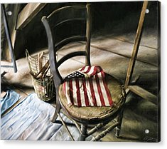 Forgotten Flag Acrylic Print by Peter Chilelli