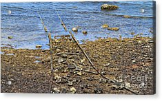 Acrylic Print featuring the photograph Forgotten Line II by Stephen Mitchell