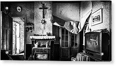 Forgotten Living Room - Abandoned House Interior Acrylic Print by Dirk Ercken