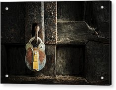 Acrylic Print featuring the photograph Forgotten Lock by Ryan Wyckoff