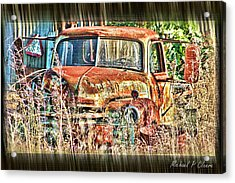 Forgotten Machine Acrylic Print by Michael Cleere