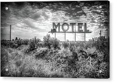 Acrylic Print featuring the photograph Forgotten Motel Sign by Spencer McDonald