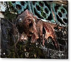 Forgotten Please Restore Me Goldfish Acrylic Print by Kathy Daxon