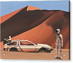 Acrylic Print featuring the painting Forgotten Time Machine by Scott Listfield