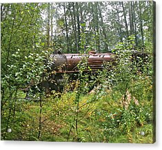 Forgotten Train Engine Acrylic Print by Robert Joseph