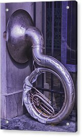 Forgotten Tuba Acrylic Print by Garry Gay