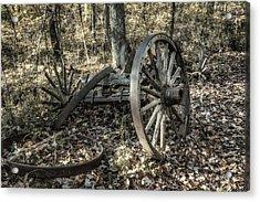 Forgotten Wagon Acrylic Print by Tom Mc Nemar