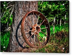 Forgotten Wheel Acrylic Print