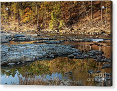 Acrylic Print featuring the photograph Fork River Reflection In Fall by Iris Greenwell