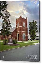 Fork Union Military Academy Wicker Chapel Sized For Blanket Acrylic Print