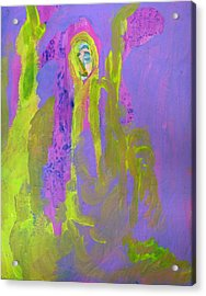 Forlorn In Purple And Yellow Acrylic Print