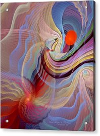 Form Accepted In The Heart Acrylic Print by Gayle Odsather