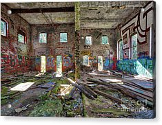Acrylic Print featuring the photograph Former Hartford Woolen Mill Newport New Hampshire by Edward Fielding
