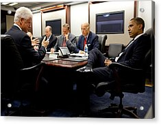Former President Clinton Briefs Acrylic Print by Everett