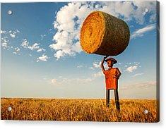 Formidable Farmer Acrylic Print by Todd Klassy