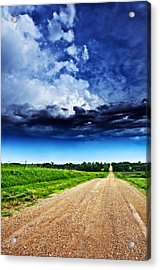 Forming Clouds Over Gravel Acrylic Print