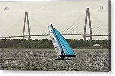 Formula 18 Sailing Cat Big Booty Charleston Sc Acrylic Print by Dustin K Ryan
