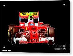 Formula One Car By Taikan Acrylic Print