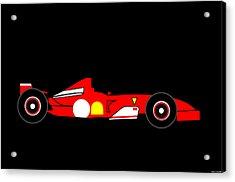 Formula One Ferrari Acrylic Print by Asbjorn Lonvig