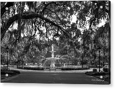 Forsyth Park Fountain 2 Savannah Georgia Art Acrylic Print by Reid Callaway