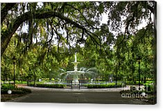 Forsyth Park Fountain Historic Savannah Georgia Acrylic Print by Reid Callaway