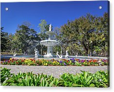 Forsyth Park Fountain  Acrylic Print by Joan McCool