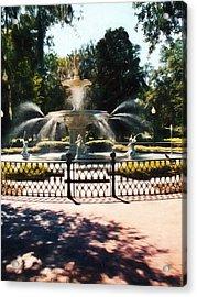 Forsyth Park Fountain - Savannah - Ga Acrylic Print