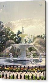 Forsyth Park Fountain - Savannah Acrylic Print by Paulette B Wright