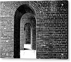 Fort Arches In Black And White Acrylic Print