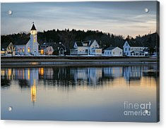 Fort Baldwin Winter Evening Acrylic Print by Olivier Le Queinec