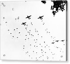 Fort Bragg Paratroopers Acrylic Print by Underwood Archives
