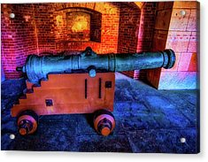 Fort Cannon Acrylic Print by Garry Gay