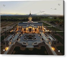Fort Collins Glow    Lds Temple Acrylic Print