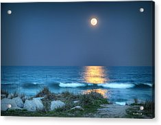 Fort Fisher Moonbeam Acrylic Print