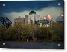 Fort Garry Hotel/fort Garry Place Acrylic Print by Bryan Scott