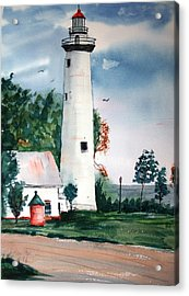 Fort Gratiot Lighthouse Michigan Acrylic Print